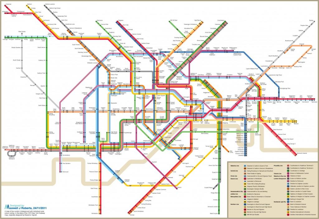 London Vignelli Map
