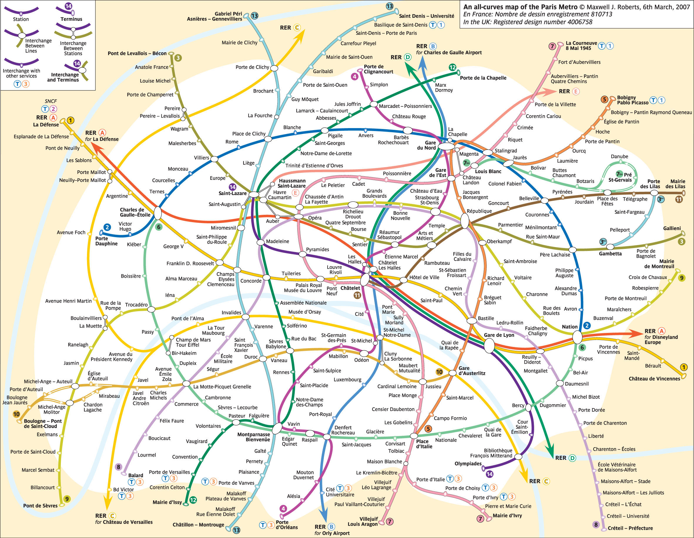 some networks are so complicated that i wonder whether any linear schematic could tame it in any way the paris metro map in an impenetrable tangle of